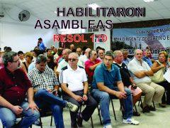 HABILITARON ASAMBLEAS